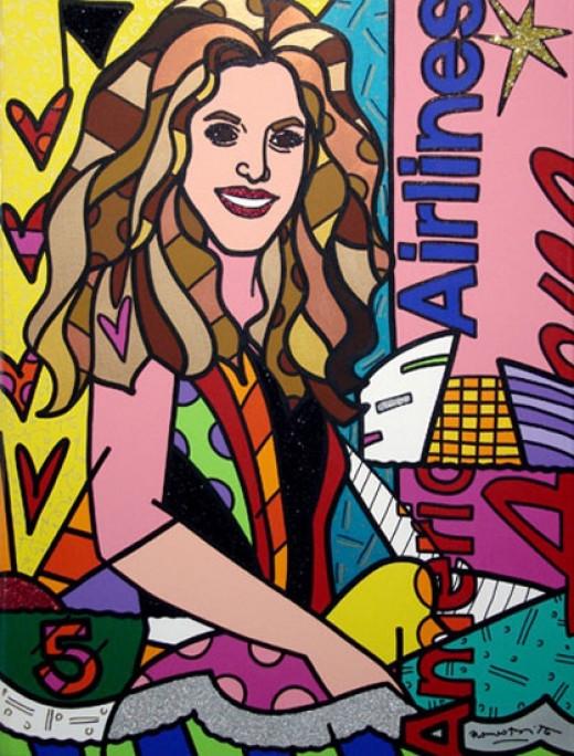 "Shakira - Acrylic on Canvas 48"" x 36"" 2007"