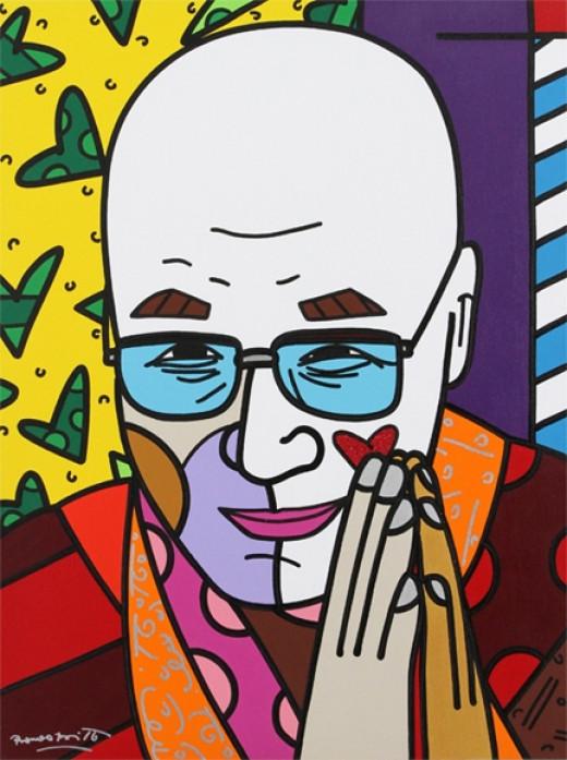 "Dalai Lama - 30"" x 40"" Acrylic on Canvas 2011"