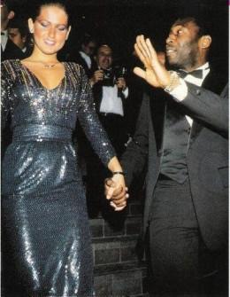 Polaroid Picture of Xuxa and Pele 1985