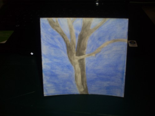 Make a card with a simple tree picture.