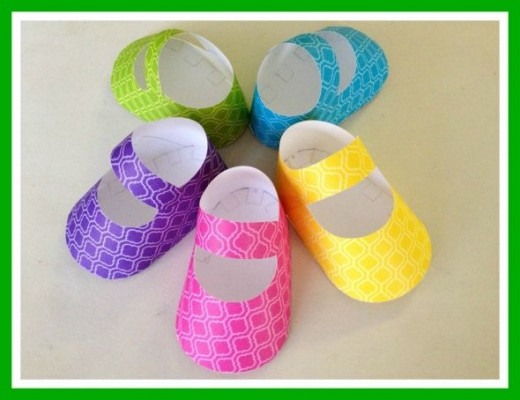 Baby shower baby shoe