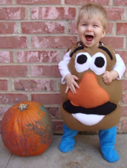 Potato Head halloween costume.