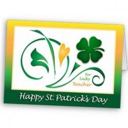 Teacher Saint Patrick's day card