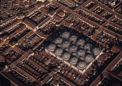 An arial view of the Istanbul Grand Bazaar