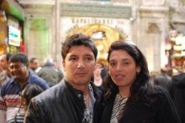 At the Grand Bazaar Entrance - Me and my hubby!