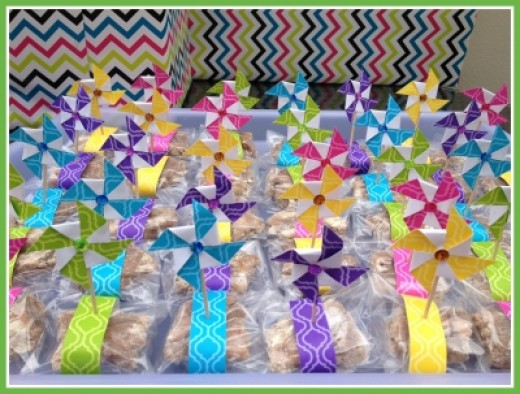 Ready Pinwheels displayed at the Baby Shower