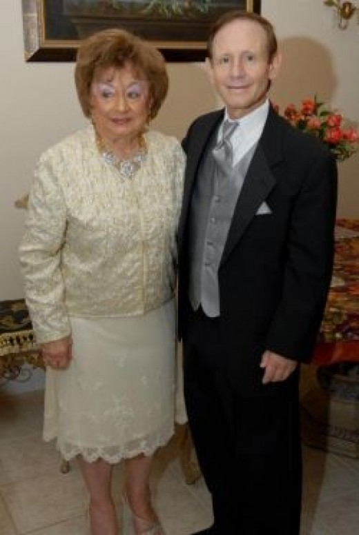 Tom and his mother Aphie 10/30/11