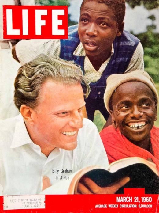 1960 Cover LIFE Billy Graham Christian Evangelist African Crusade James Burke - Original Cover