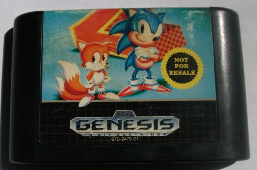 One of our many copies of Sonic the hedghog 2.