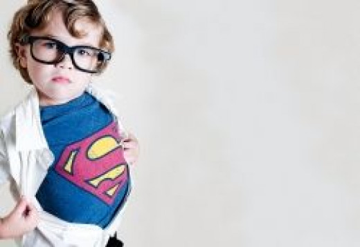 Superman last minute costume