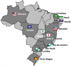 Brazilian states and cities of the 2014 FIFA World Cup.