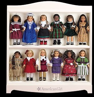 American Girl Mini Doll Display Shelf  Click on photo