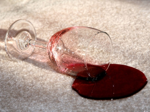 Spilled wine remove stain