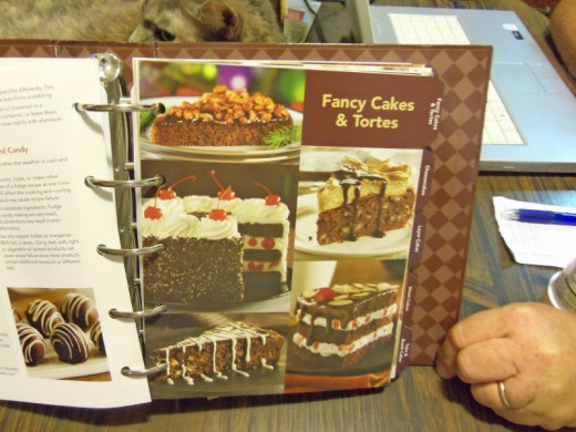 Fancy tortes and cakes.