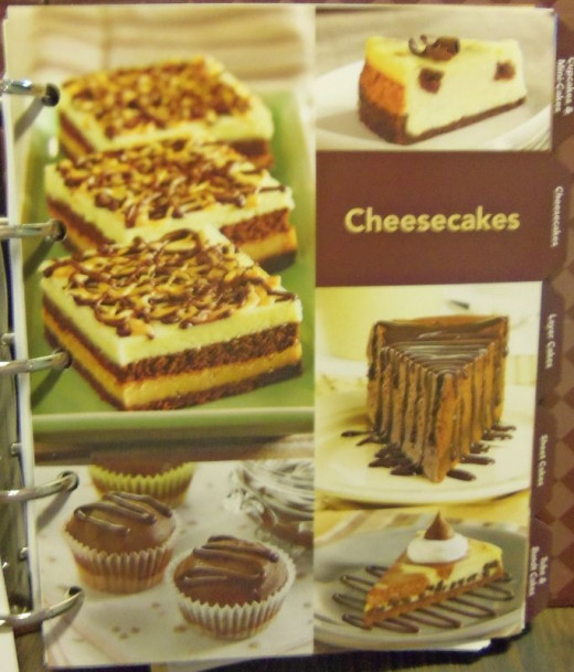 Section on cheesecakes.