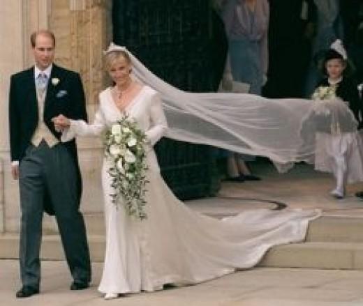 Sophie Rhys-Jones  wedding dress