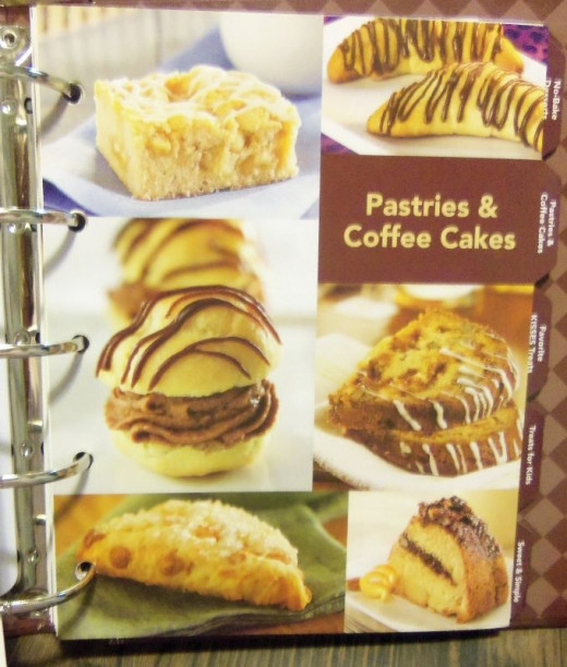 Pastries and the coffee cake I made.  Doesn't it look good?  Visit my web page listed above for it.