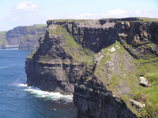 Photo by Wikipedia: The Cliffs of Moher in County Clare, Republic of Ireland.