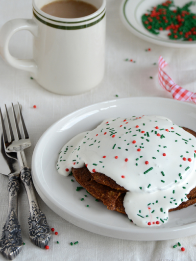 Healthy Flaxseed Gingerbread Pancakes