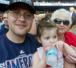 Me, my daughter and mom at Tiger's game.