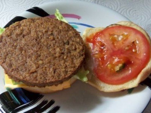 My Veggie Burger Lunch Today