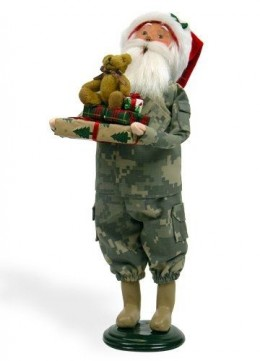 "Byers Choice 13"" Camouflage Santa Available on Amazon."