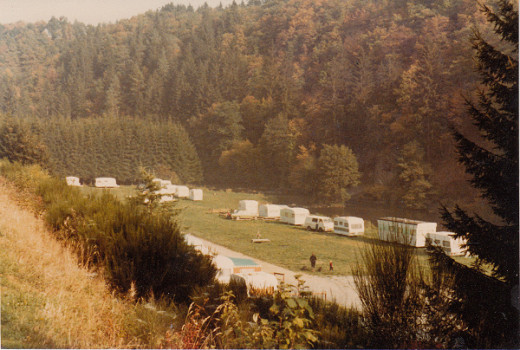 overview of the camping site near La Roche-en-Ardenne in Belgium