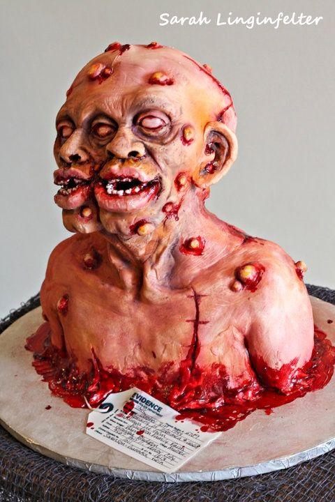Two Headed Zombie Cake