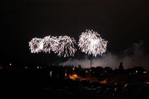 A few fireworks on Bastille Day for La Cite Ablaze celebrations