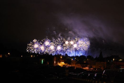 A few fireworks on Bastille Day for La Cite Ablaze celebrations