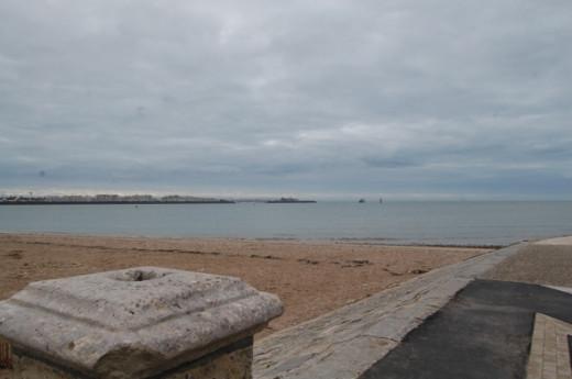 Sea view across the beach at La Rochelle