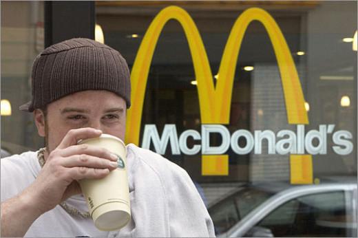 Drinking McDonald's Coffee
