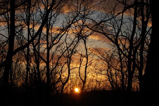 A lovely autumn sunset