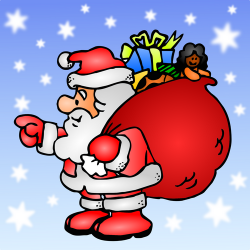 Derived from Santa Claus With His Bag (public domain) by Pippi2011.