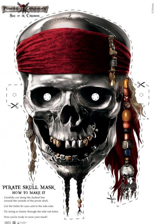 Awesome Pirates of the Caribbean Skull Mask!