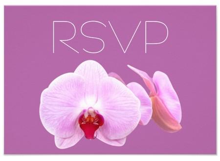 Radiant orchid RSVP card