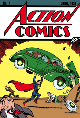 The first appearance of Superrnan in Action Comics #1