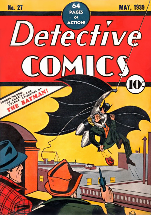 First appearance of Batman in Detective Comics #27.