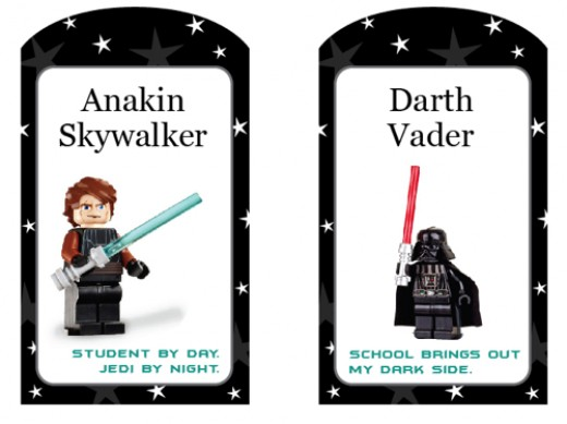 You can personalize these Star Wars stickers