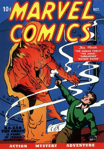 First issue of Timely's Marvel Comics.