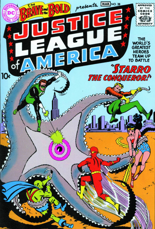 The introduction of the Justice League of America in The Brave And The Bold #28.