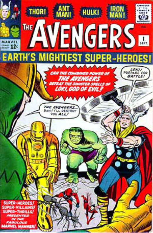 By 1963 Marvel had enough superheroes to create their own version of the JLA, The Avengers