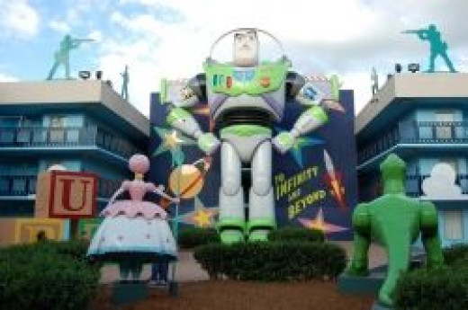The Buzz Lightyear Building at Disney's All-Star Movies Resort