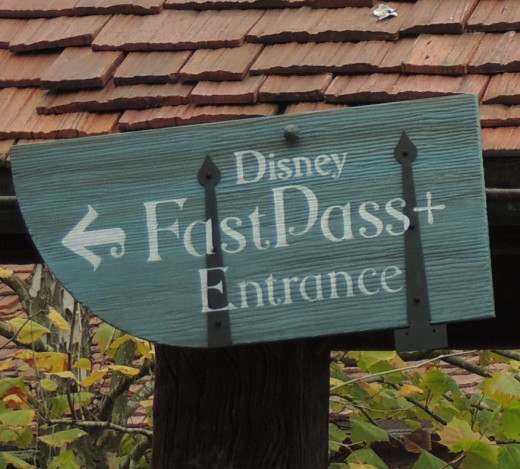 Picture of a FASTPASS+ Entrance at Disney World