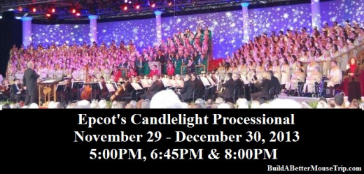 Candlellight Processional at Epcot in Disney World.