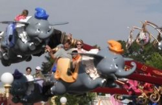 Dumbo ride at Walt Disney World