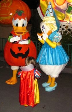 Donald Duck & Daisy Duck at Mickey's Not So Scary Halloween Party at Disney World (Photo courtesy of Loren Javier via Flickr Creative Commons)