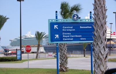 Easy to follow signs at Port Canaveral
