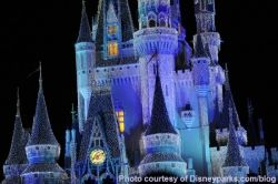 Cinderella's Castle Dream Lights at Magic Kingdom