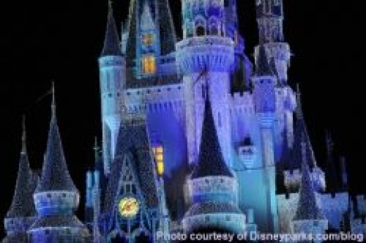 Cinderella's Castle Dream Lights at Magic Kingdom